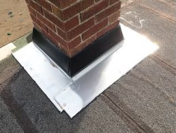 chimney flashing after repair