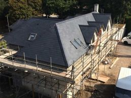 example re-roofing using traditional slate roof tile material