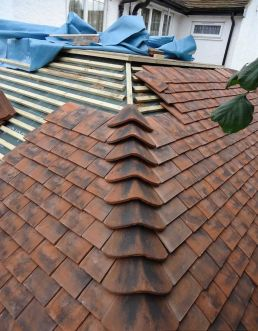 modern red roofing tile